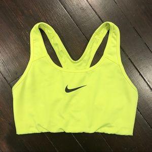Like New Neon Yellow Nike Pro Sports Bra